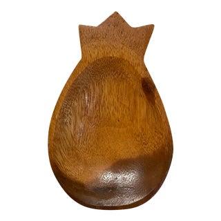 Vintage Monkey Pod Wood Pineapple Bowl For Sale