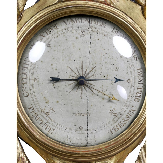 Louis XVI Giltwood Barometer For Sale - Image 4 of 9