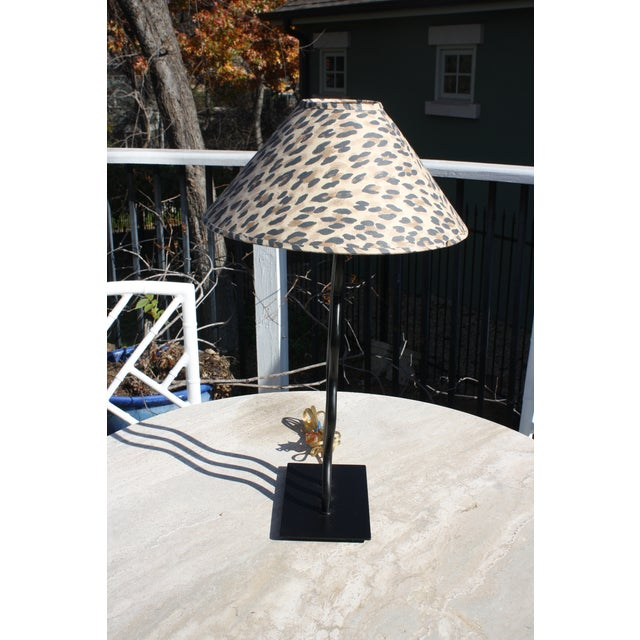 1980s Wave Memphis Style Table Lamp For Sale - Image 4 of 12