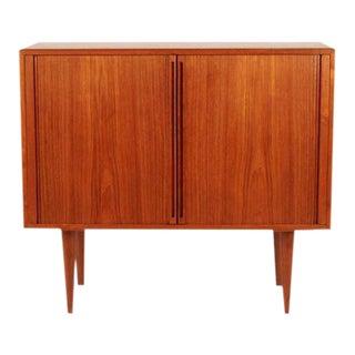 Vintage Kai Kristiansen Danish Teak Cabinet With Tambour Doors