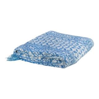 Naivy Indigo Batik Throw For Sale