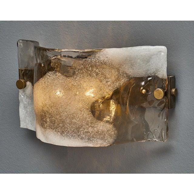 Italian Set of Four Murano Glass Mazzega Sconces For Sale - Image 3 of 9