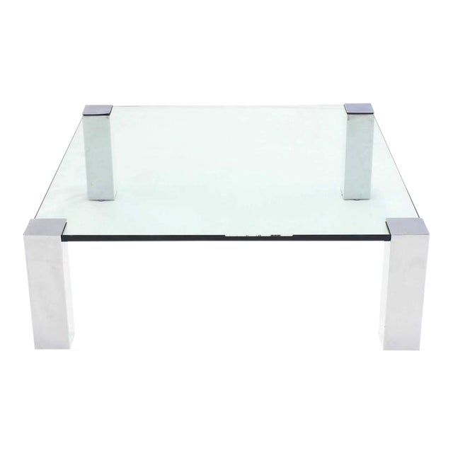 Large Square Mid-Century Modern Coffee Table For Sale