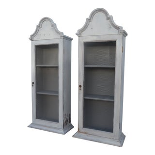 20th Century French Country Farmhouse Cabinets - a Pair For Sale