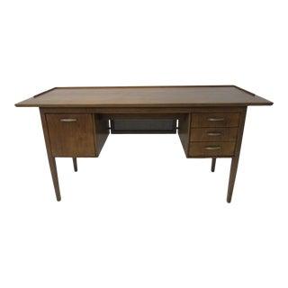 Mid Century Walnut Desk For Sale