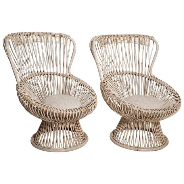 Restored Pair of 1950s Margherita Chairs by Franco Albini for Vittorio Bonacino For Sale