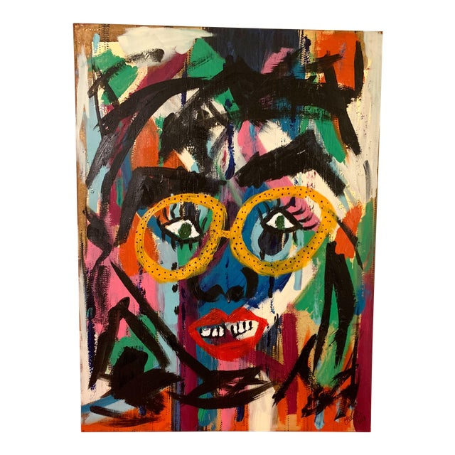 Contemporary Abstract Face Painting For Sale