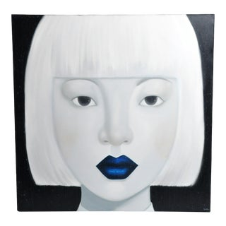 Face Contemporary Painting of a Woman For Sale