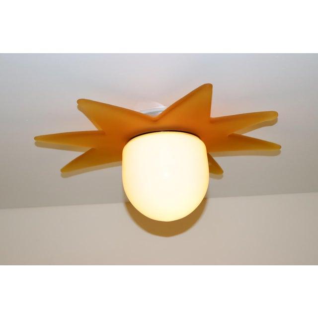 Italian 1980 Mid-Century Modern Murano Glass Ceiling Lamp For Sale - Image 3 of 7