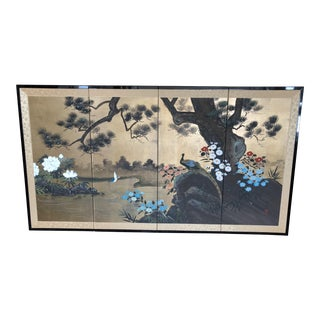 Japanese Four Panel Folding Screen