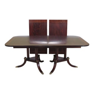 Traditional Henkel Harris Flame Mahogany Dining Room Table For Sale