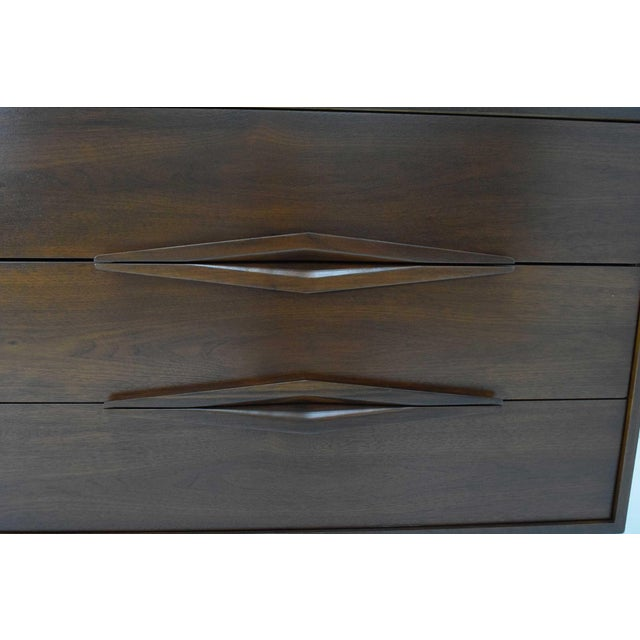 Brown Mid-Century Modern Walnut Sculpted Sideboard For Sale - Image 8 of 11