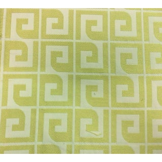 Bty Thibaut Anafi Yellow and Cream Greek Key Multi-Purpose Fabric For Sale
