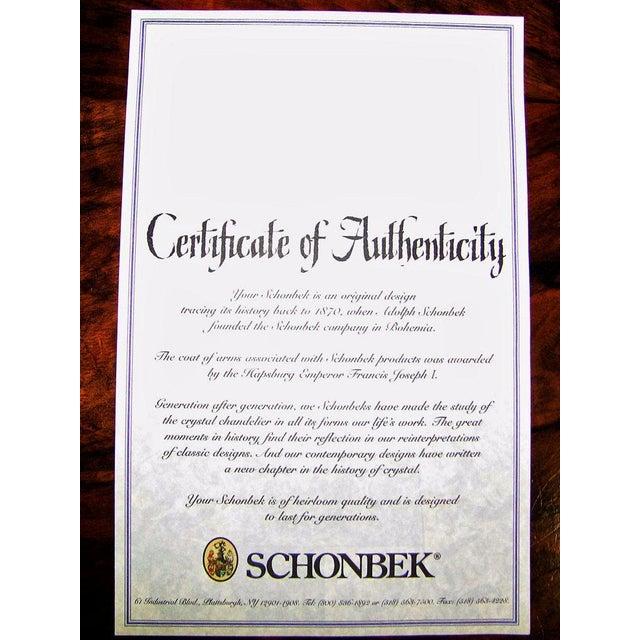 Vintage Schonbek Crystal 6 Arm Chandelier For Sale In Dallas - Image 6 of 9