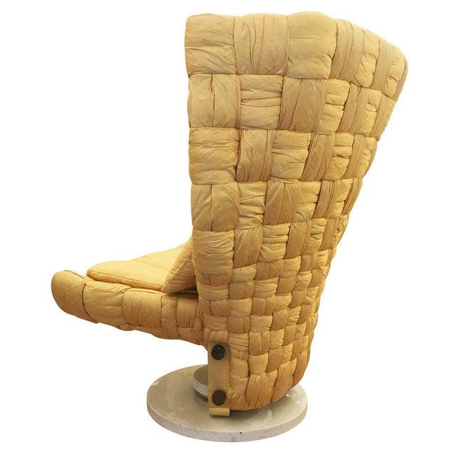 Marzio Cecchi Swivel Lounge Chair by Marzio Cecchi For Sale - Image 4 of 8