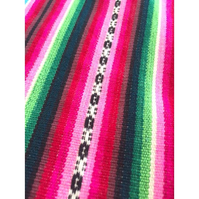 Vintage Bolivian Handwoven Blanket - Image 5 of 7