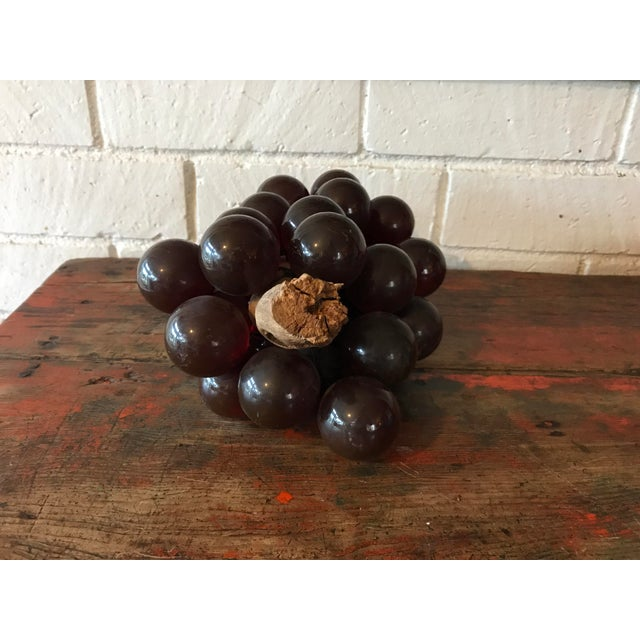 Vintage Brown Resin Grape Cluster For Sale - Image 4 of 10
