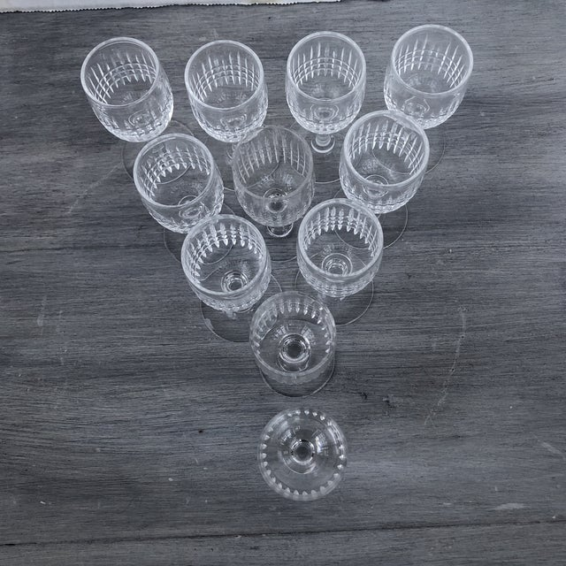 Hand Cut Vintage Holiday Cordial Glasses a Set of 11 For Sale - Image 4 of 7