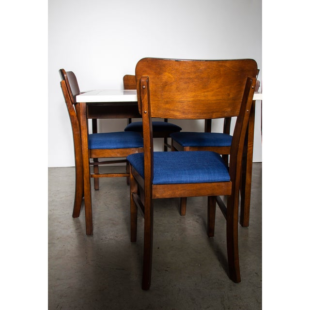 Contemporary Contemporary Wood Dining Table and Chairs Set For Sale - Image 3 of 10