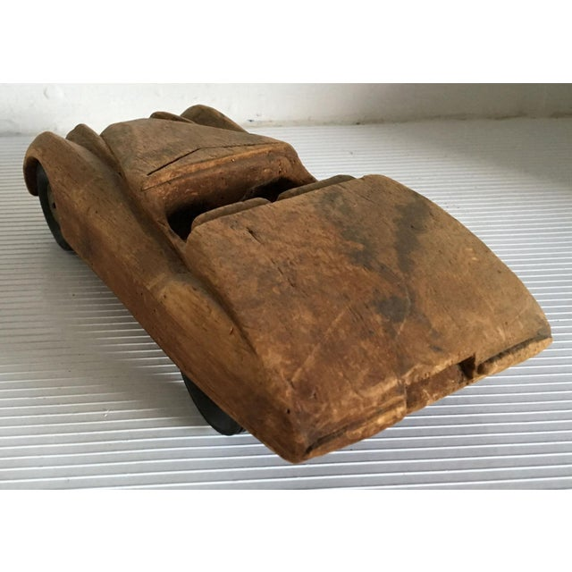 Antique Wooden Hand Carved Model Car - Image 8 of 11