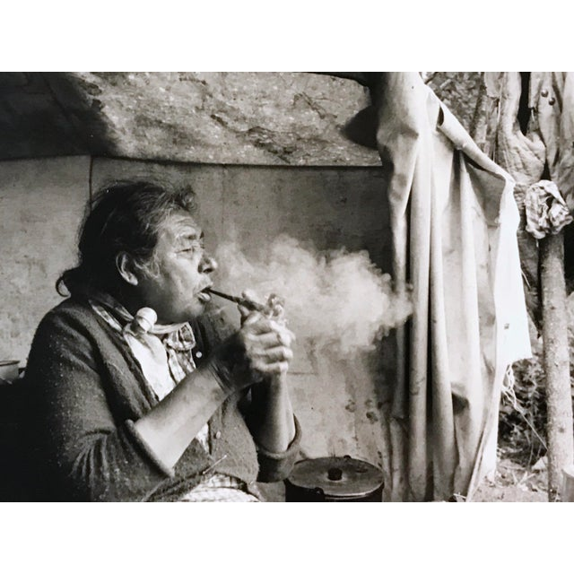 """Vintage 1966 """"Canadian Cree Woman Lights Her Pipe"""" Photograph by Paul S. Conklin For Sale - Image 11 of 11"""