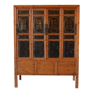 Vintage Chinese 4 Door Cabinet For Sale