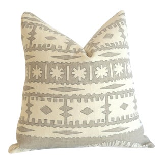 Schumacher Bora Bora Linen Pillow Cover 16x16 For Sale