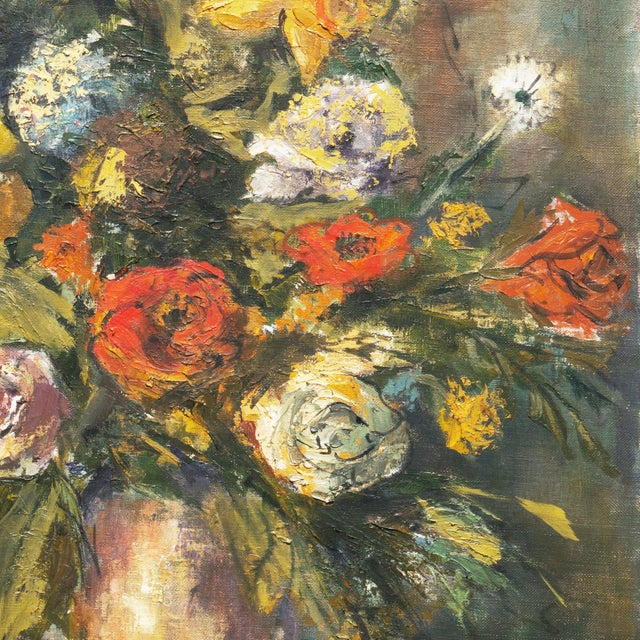 'Modernist Still-Life of Narcissus and Roses' For Sale - Image 4 of 8
