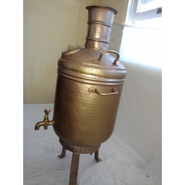 Antique Turkish Water Dispenser Samovar For Sale - Image 4 of 8
