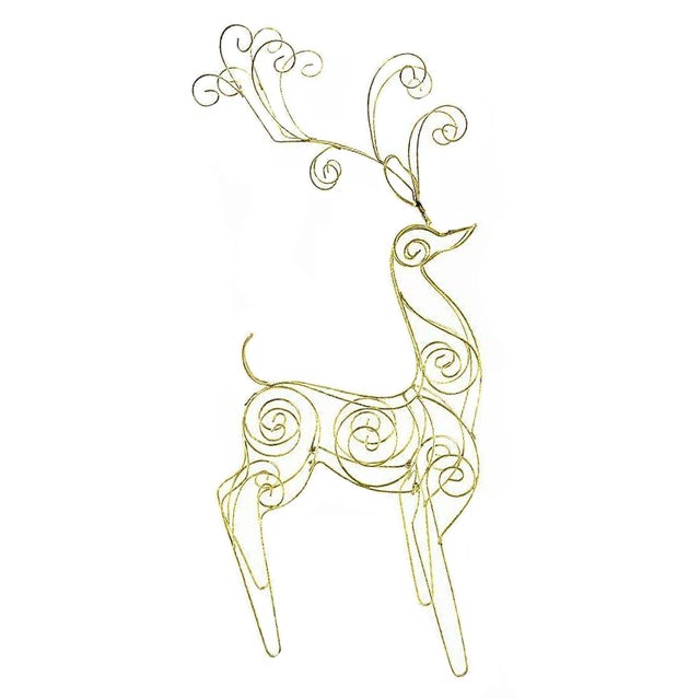 Vintage Tall Wire Christmas Reindeer - Image 1 of 5
