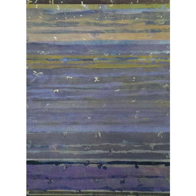 Christine Averill - Green, Wishing You Thousands of Twillights Painting, 2015 For Sale
