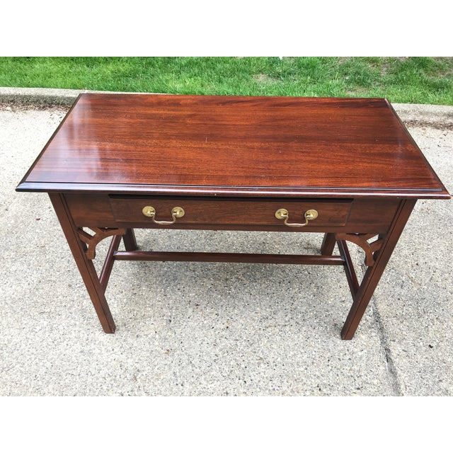 Asian Bombay Co. Chinoserie Wood Desk For Sale - Image 3 of 7