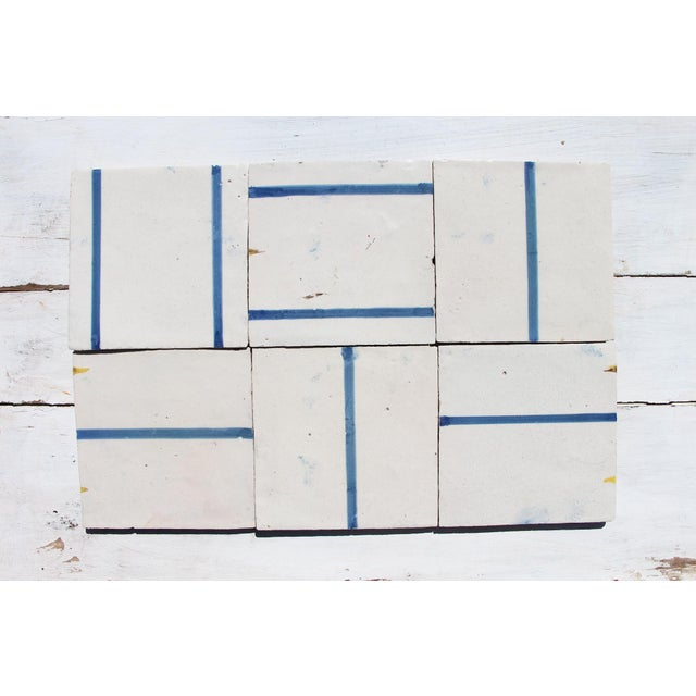 18th Century Minimalist Baroque Tiles - Set of 6 For Sale - Image 13 of 13