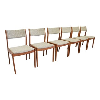 Set of 6 Mid-Century Scandinavian Modern Teak Side Dining Chairs For Sale