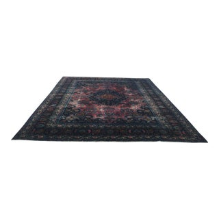 Oversize Persian Antique Handwoven Floor Rug - 10′1″ × 13′3″