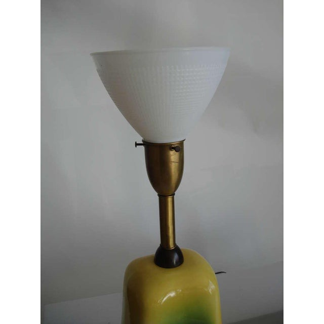 1960s Pair of Oversized Mid-Century Ceramic Lamps For Sale - Image 5 of 6