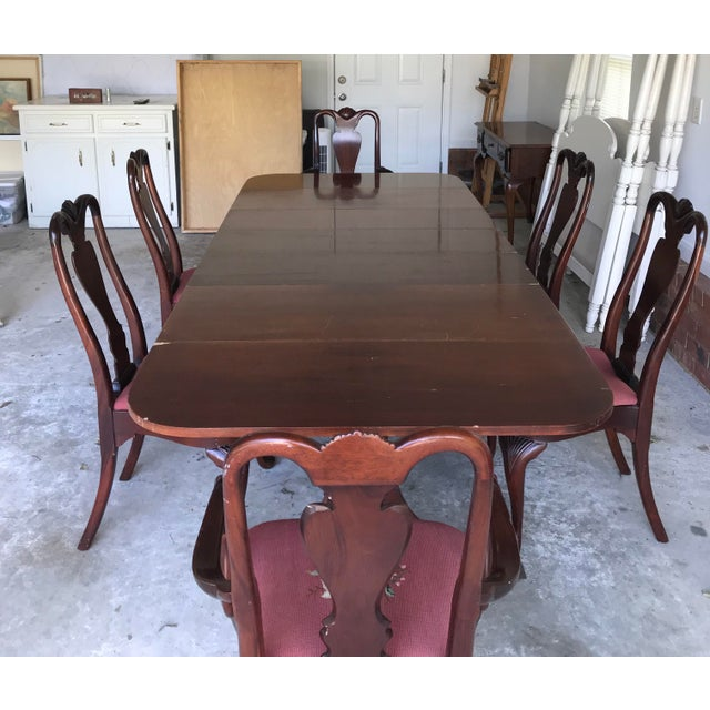e38ddb6d94db Art Deco 1930 s Duncan Phyfe Style Mahogany Dining Set For Sale - Image 3  of 13