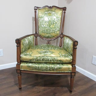 19th Century Vintage French Louis XVI Wood Arm Chair Preview