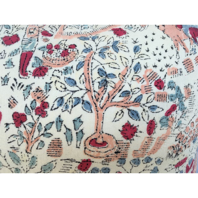 Blocked 1970s Bohemian Tree of Life Textile Pillow - Image 4 of 9