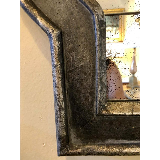 Hollywood Regency Style Wall Mirror Silver Overlay Decorated Midcentury For Sale - Image 10 of 11