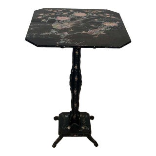 1880s Japanese Nagasaki Inlaid Side Table For Sale