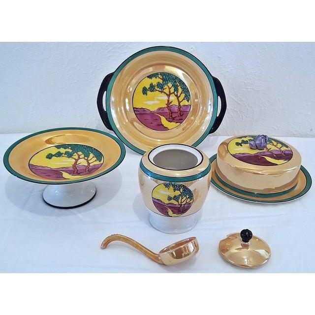 Ceramic Vintage Noritake Deco 4 Piece Set For Sale - Image 7 of 13