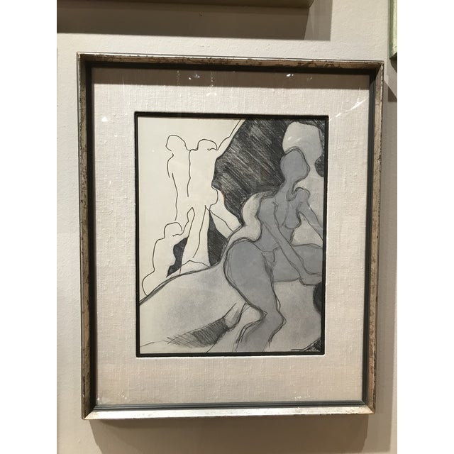 Mid 20th Century Mid Century Abstract Nude Drawing For Sale - Image 5 of 5