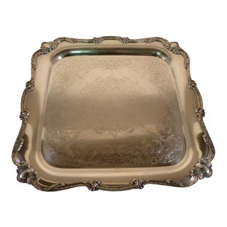 Wilcox International Silver Square Silverplate Tray
