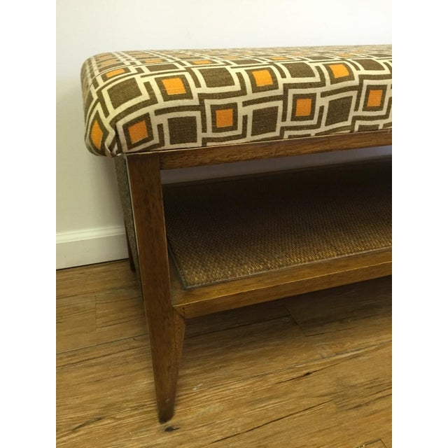 Mid Century Modern Upcycled Bench - Image 5 of 5