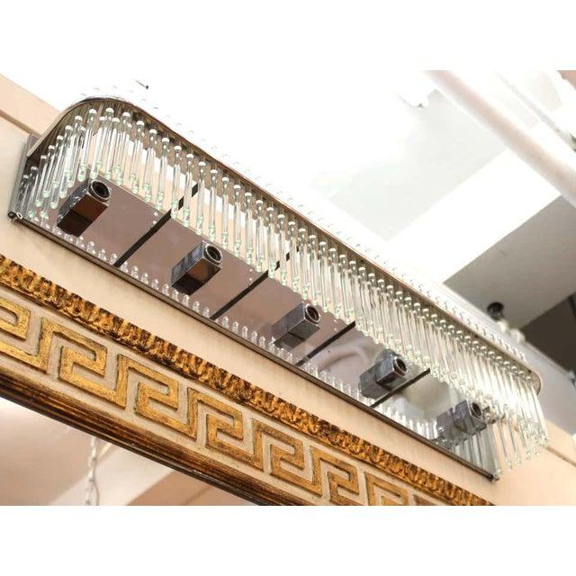 Gaetano Sciolari Sciolari Italian Modern Wall Sconce With Glass Rods For Sale - Image 4 of 9