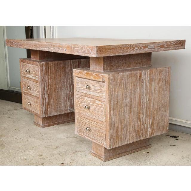 French Cerused Oak Desk For Sale - Image 4 of 11