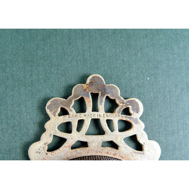 Vintage English Tea Strainer & Stand For Sale - Image 7 of 7