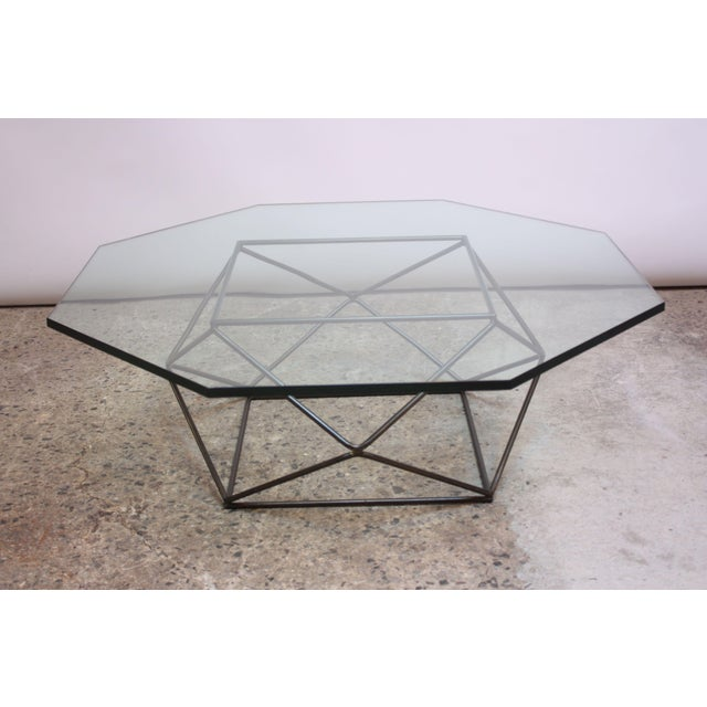 Contemporary Milo Baughman for Directional Geometric Bronze Coffee Table For Sale - Image 3 of 13