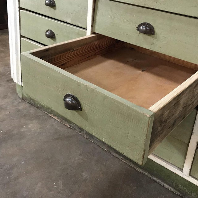 White Mid-Century Painted Store Counter For Sale - Image 8 of 13